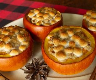 Sweet Potato Casserole in a Pumpkin Bowl