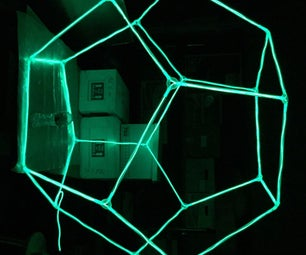 Glow-decahedron Sculpture