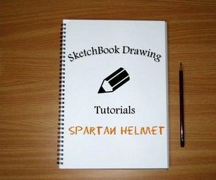 How to Draw ASpartan Helmet