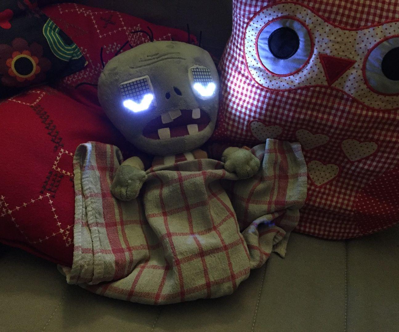 Animated LED Zombie Plush Toy