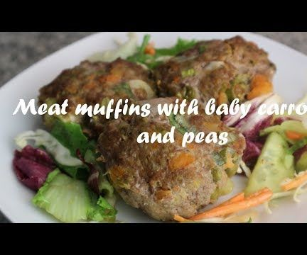 Meat Muffins With Baby Carrots and Peas Recipe