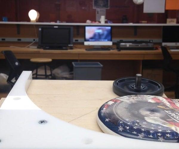 Desktop Frisbee Launcher With Wii Nunchuck