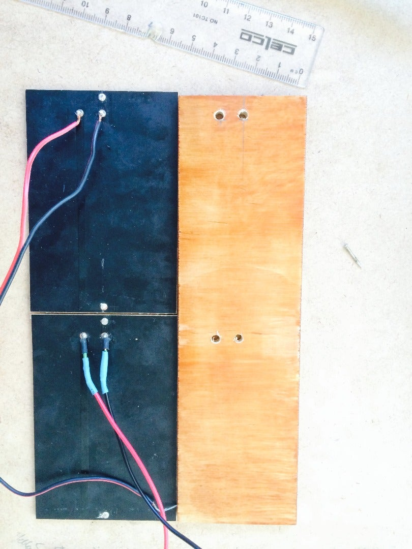 Drill Holes in the TOP Panel for Solar Panel/s