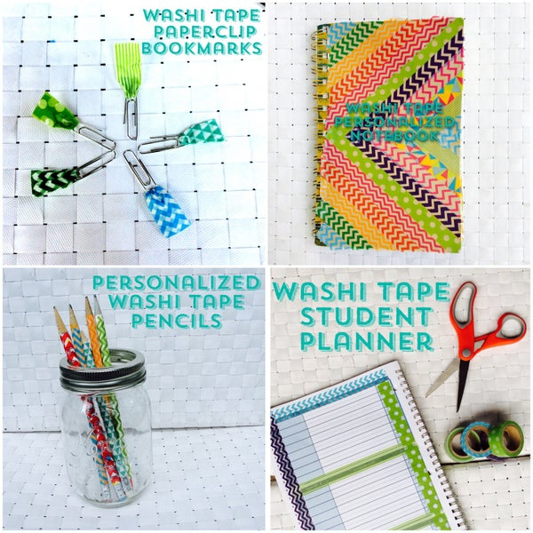 4 Easy Back to School DIY's With Washi Tape