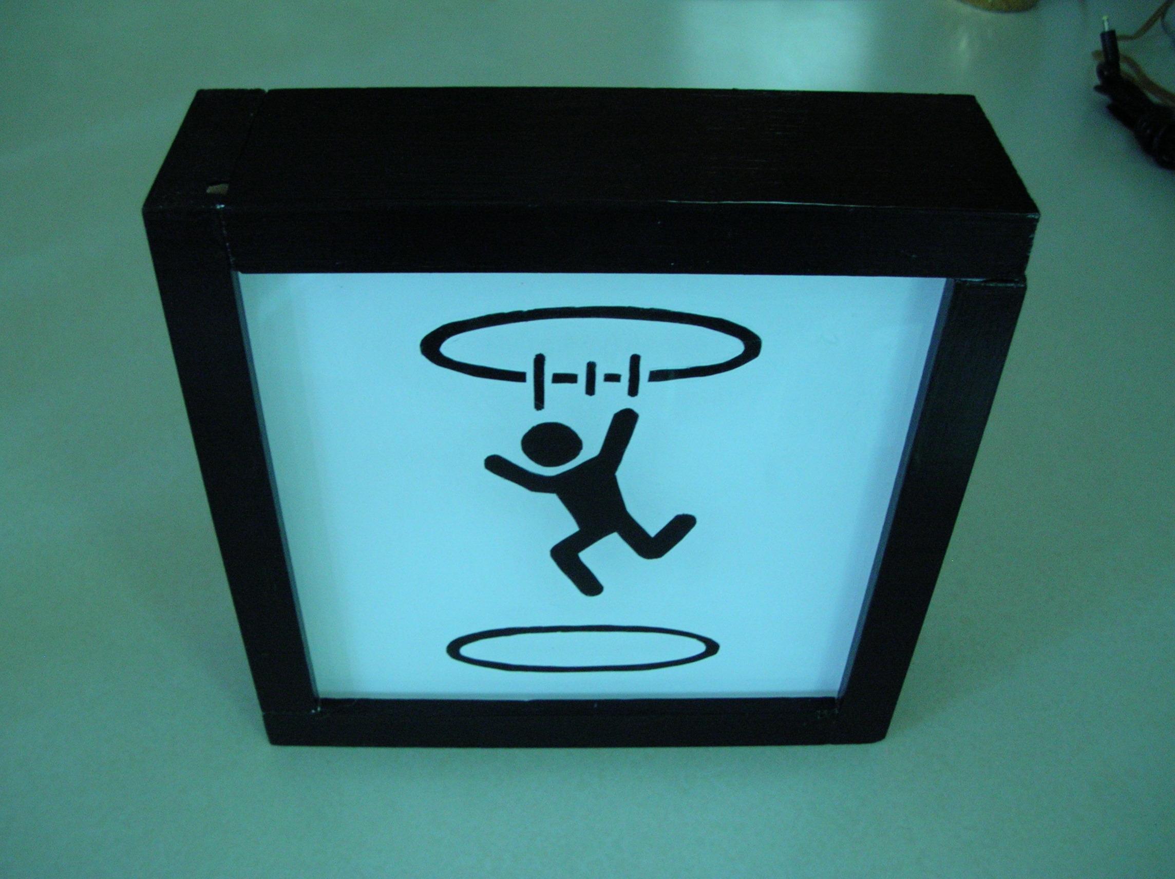 Lighted Portal Warning Symbol