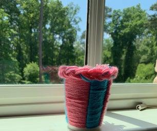 Yarn Flower Pot