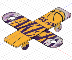 Lakers Fly Skateboard