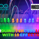 Arduino 74hc595 Shift Register | 16 Led Chaser With 18 Effects
