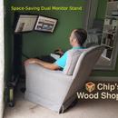 Corner Dual Monitor Stand