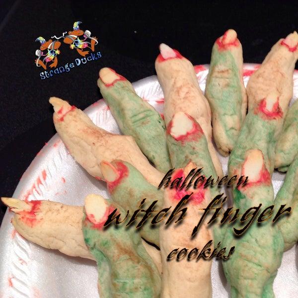 Easy Halloween Witch Finger Cookies