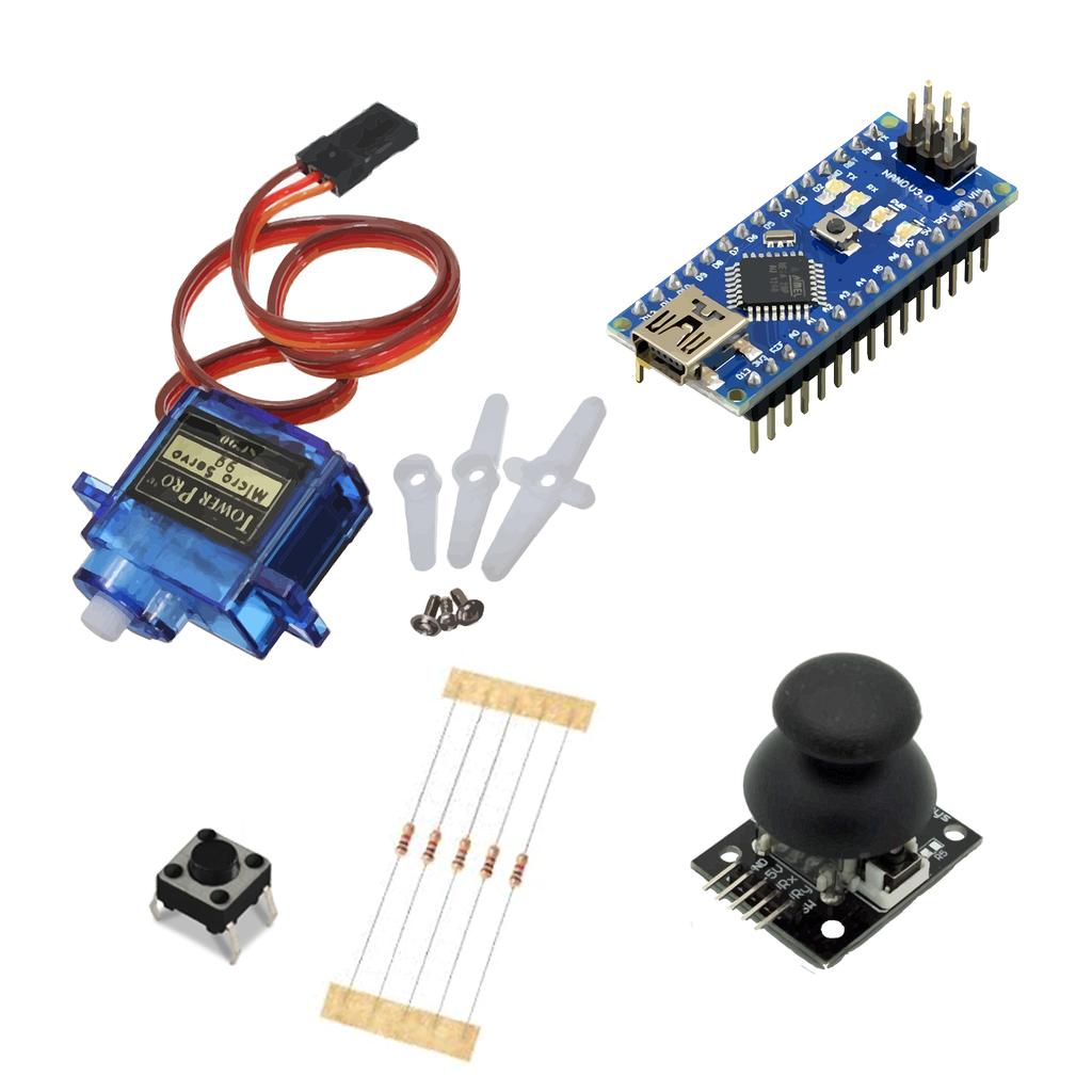 Arduino Tutorial - Control Servo Motor - Joystick
