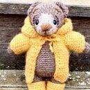 Crochet Cute Stuffed Bear in Rain Coat and Boots Using Knit Stitch