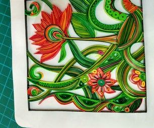 Quilled Floral Design