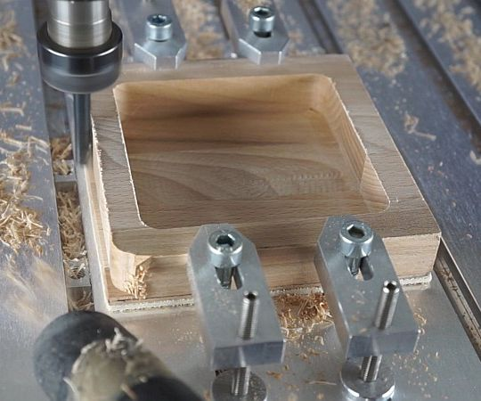 How to machine all around a workpiece with clamps in the way