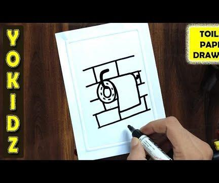 HOW TO DRAW TOILET PAPER ROLL