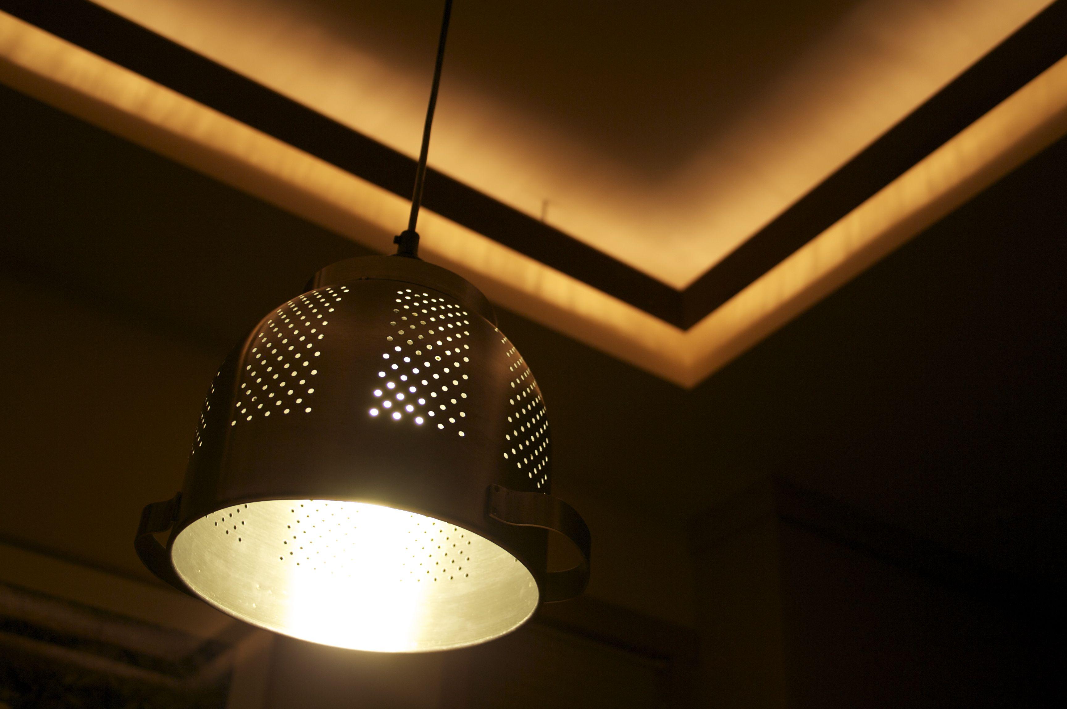 Hanging Colander Lamp Shade