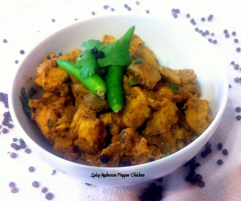 Spicy Mushroom Black Pepper Chicken