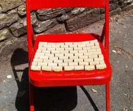 Weatherproof Seat Pad From Wine Corks