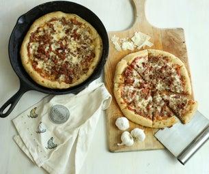 铸铁锅披萨