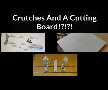 Fishing Rod Wrapping Jig Made From Crutches & Cutting Board
