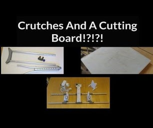 Fishing Rod Wrapping Jig Made From Crutches & HDPE Cutting Board