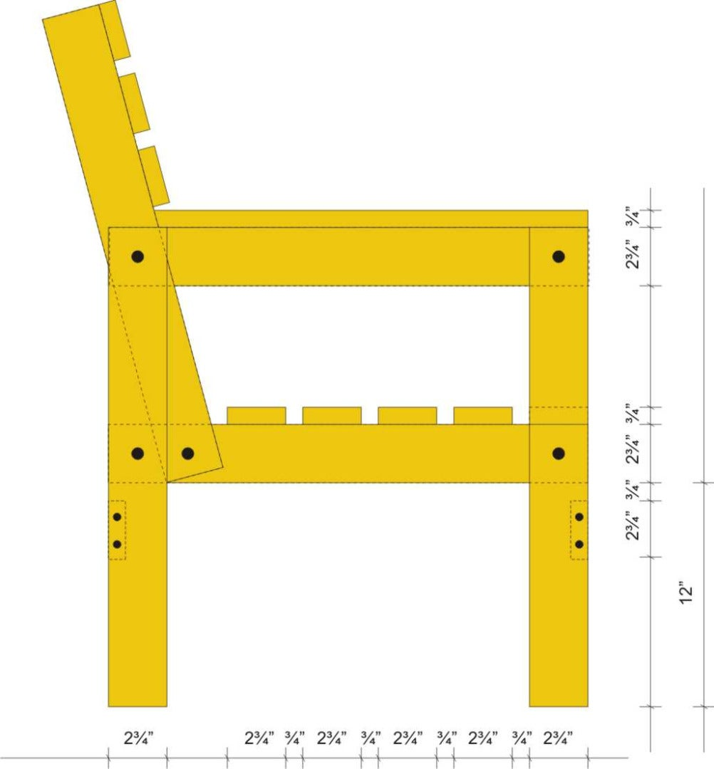 Exploded View, Material List and Cutting Diagram