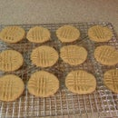 Gluten free, Dairy free, Easy Peanut Butter Cookies