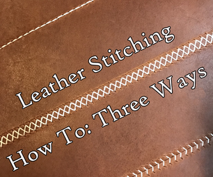 Leather Stitching: How-To Three Ways
