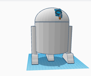 How to Make an R2 Droid in TinkerCAD