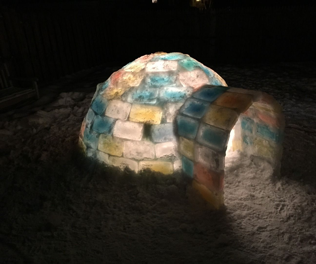 Make an Ice Block Igloo