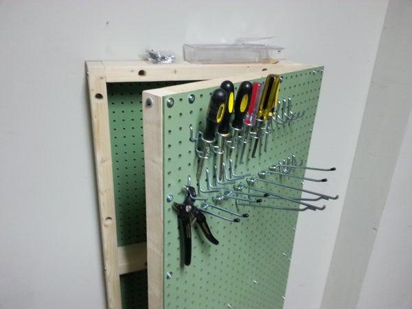 Peg Board Tool Cabinet