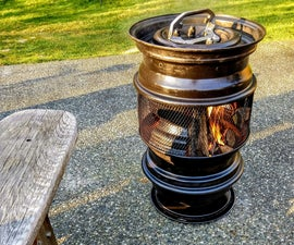 Upcycle Old Steel Wheels Into a Fire Pit