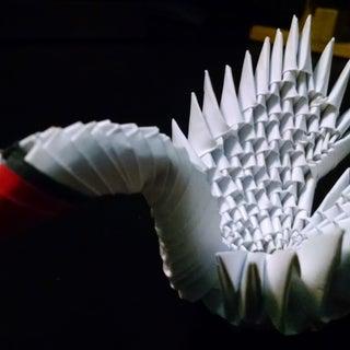 Modular Origami | Mini Winged Swan | 181 Pieces
