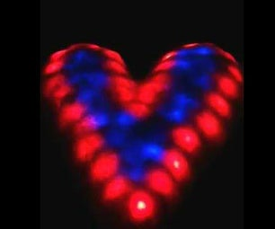 Color Changing LED Snow Heart Valentine
