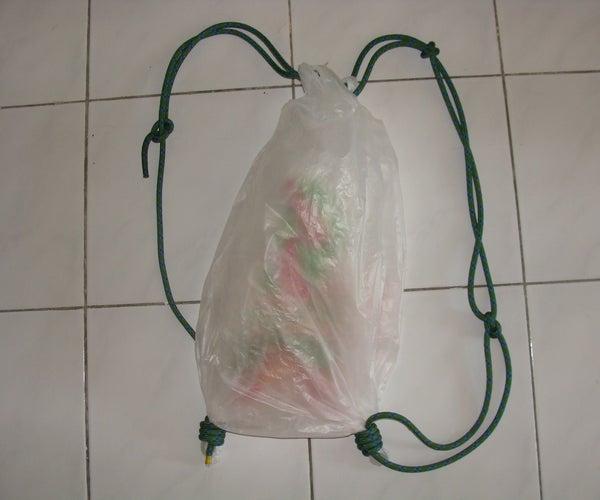 5 Minute Carrier Bag Green Rucksack