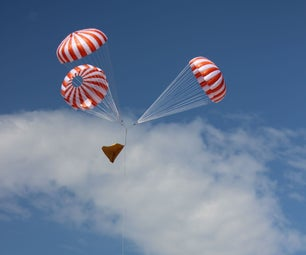Orange and White Apollo-Style Model Rocket Parachutes