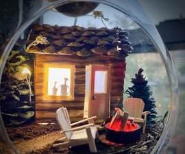 Solar Powered Light-Up Terrarium