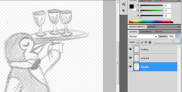 Modify, Resize, Lighten, and Create New Layers for Your Drawing