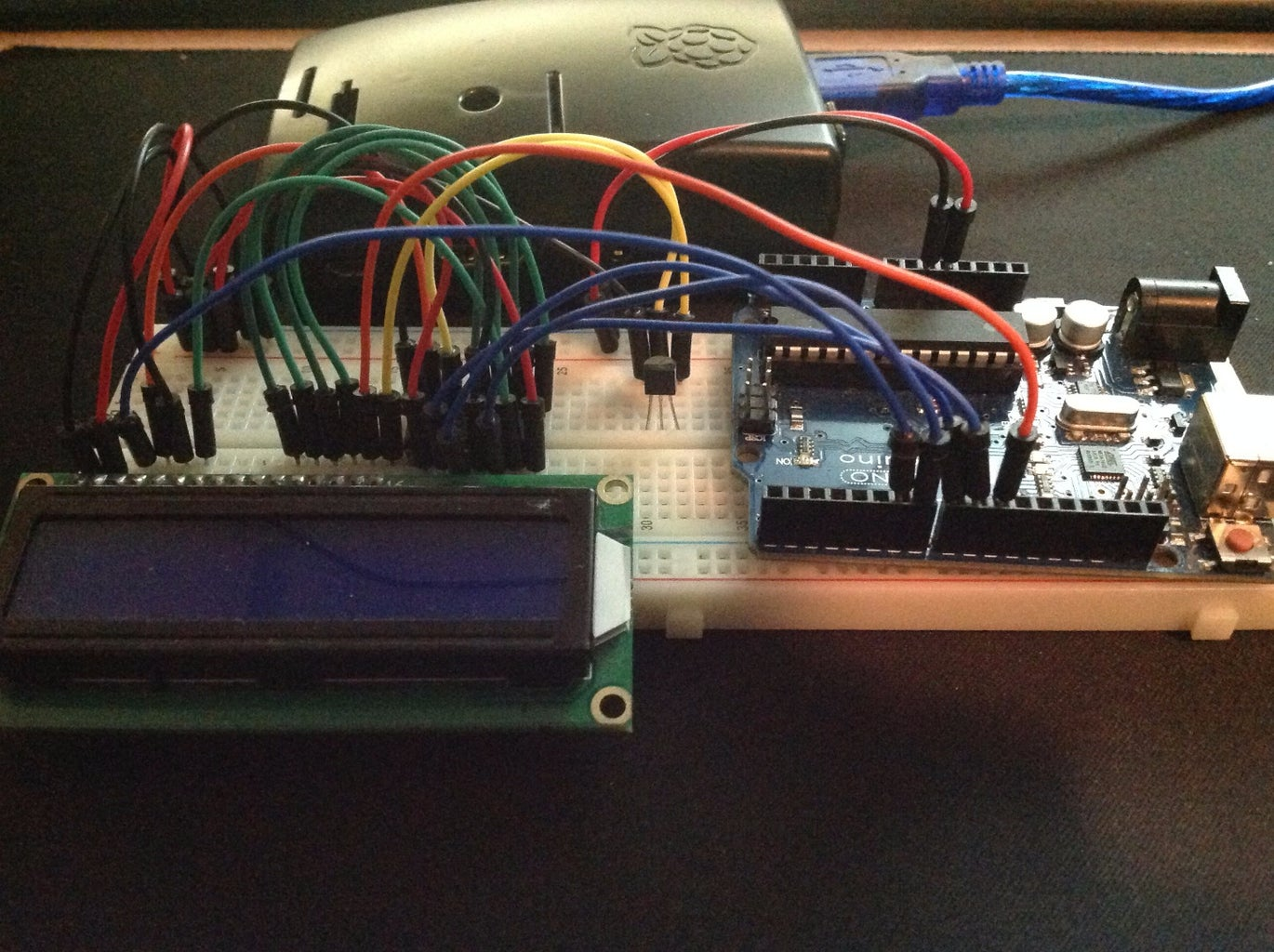 Raspberry Pi + Arduino Serial With LCD Screen
