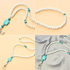 Finish the 2-strand Pearl Necklace