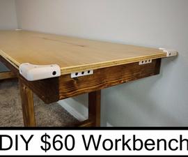 DIY $60 Modern Workbench Indoor Outdoor