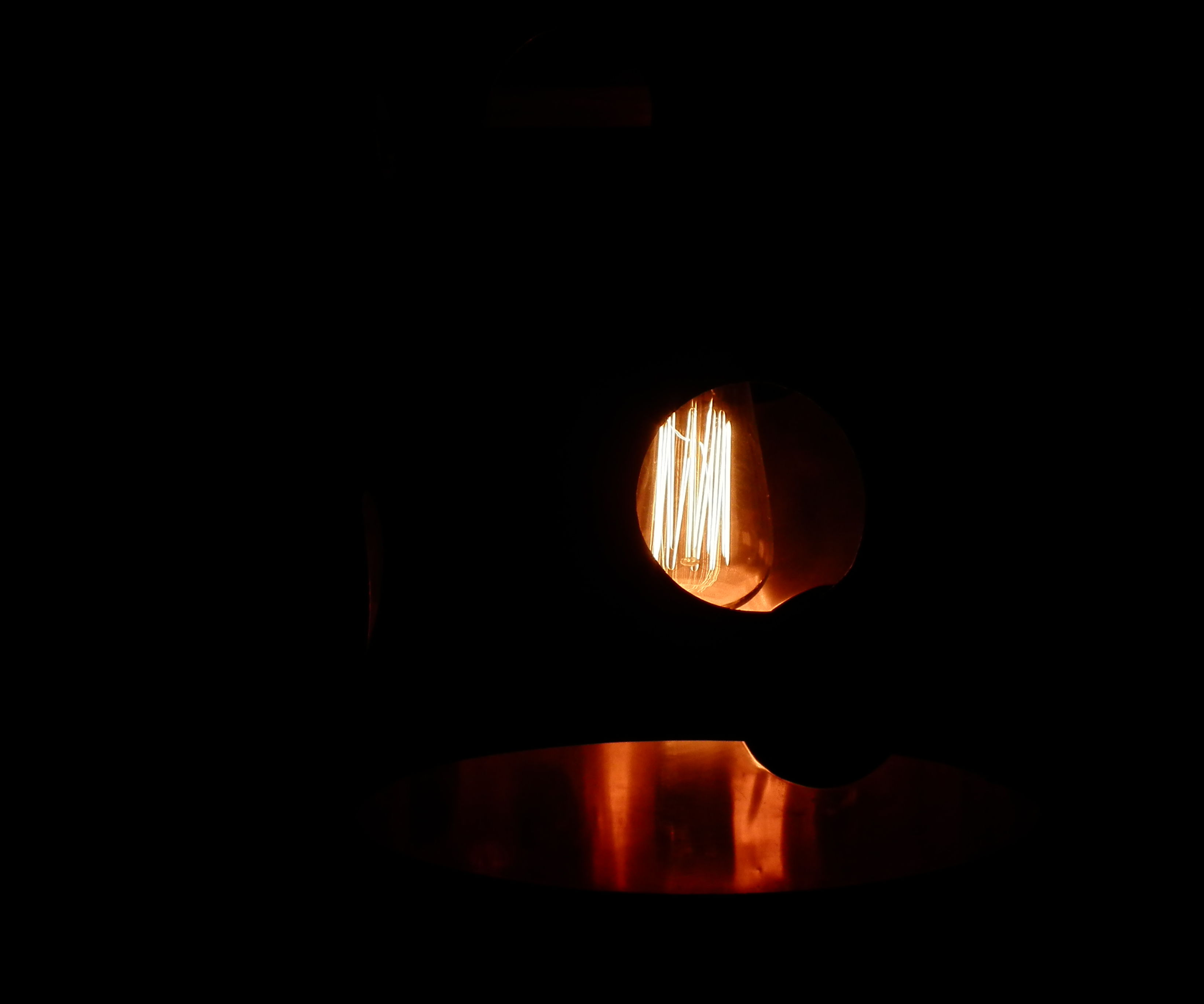 Copper Lamp With Edison Bulb