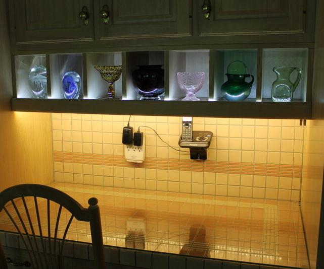 Kitchen writing desk lights