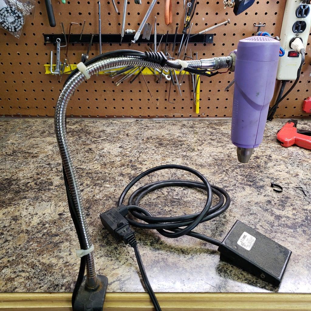 Hands Free Heat Gun for Heat Shrink or Reflow. Recyle!