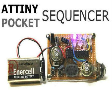 Attiny Pocket Sequencer