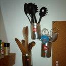 Postes de herramientas colgantes - LATAS recicladas