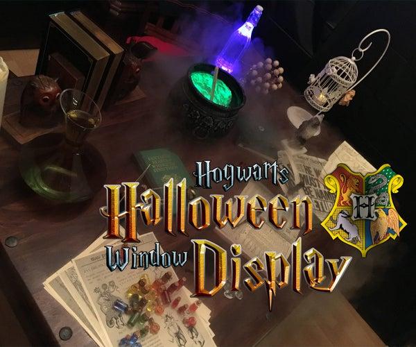 Hogwarts Halloween Window Display