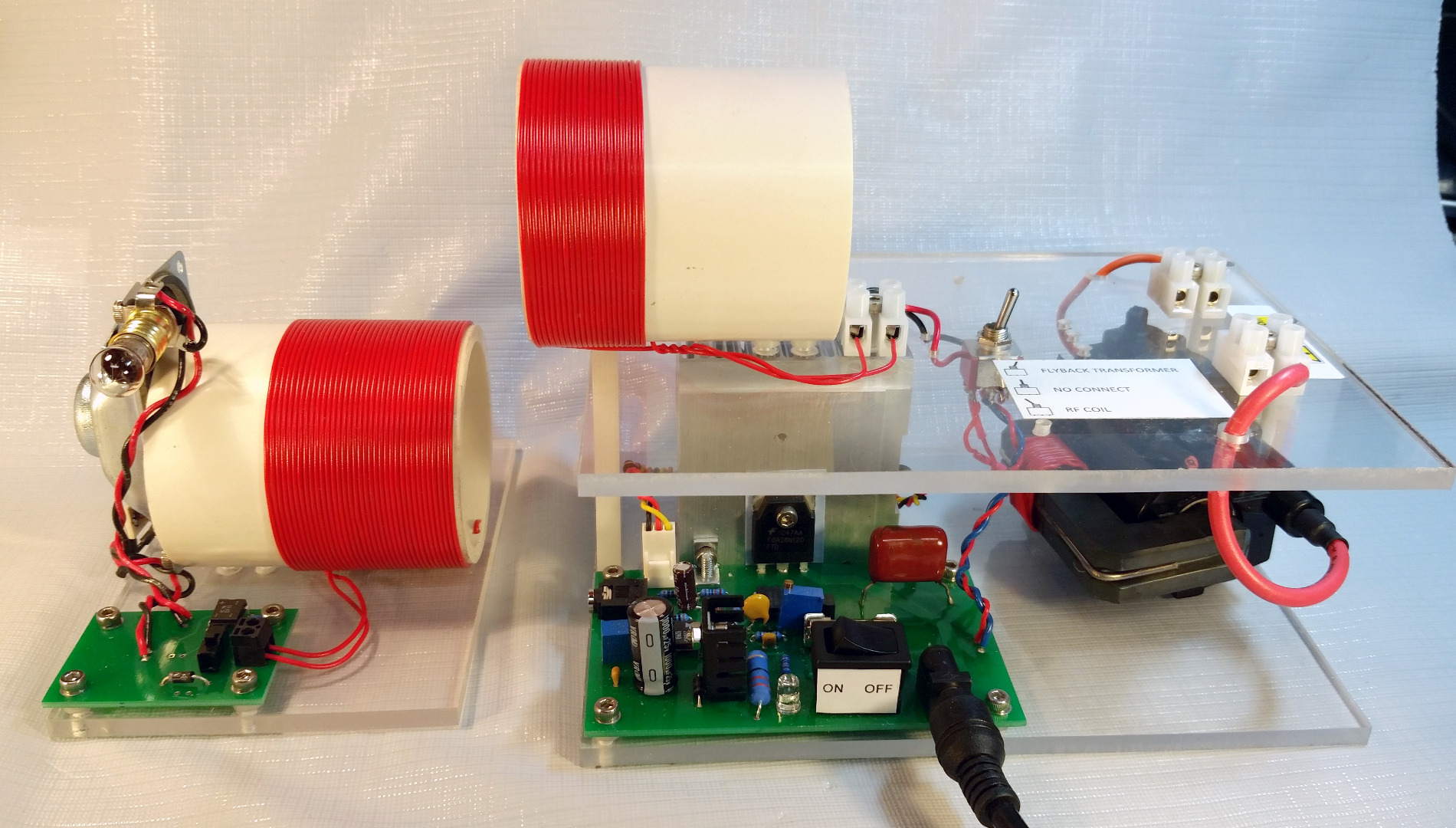 Class D Audio Modulated Kit for High Voltage Generation and RF Power Demonstration
