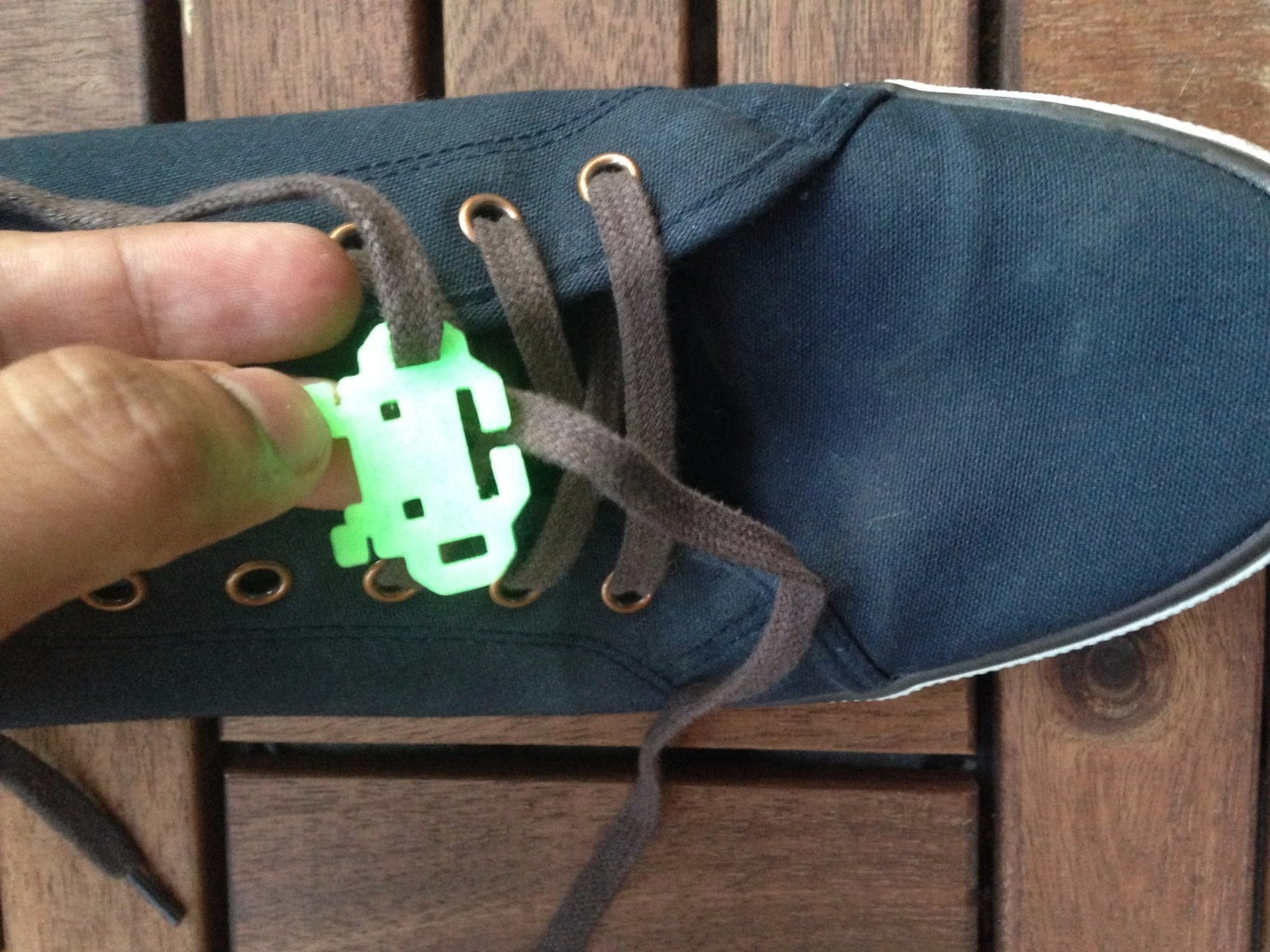 Lace Up the Space Invader to Your Shoes