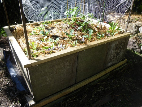 Making a Raised Garden Bed From Concrete Pavers
